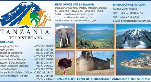 Tanzania Toursim board managing director job