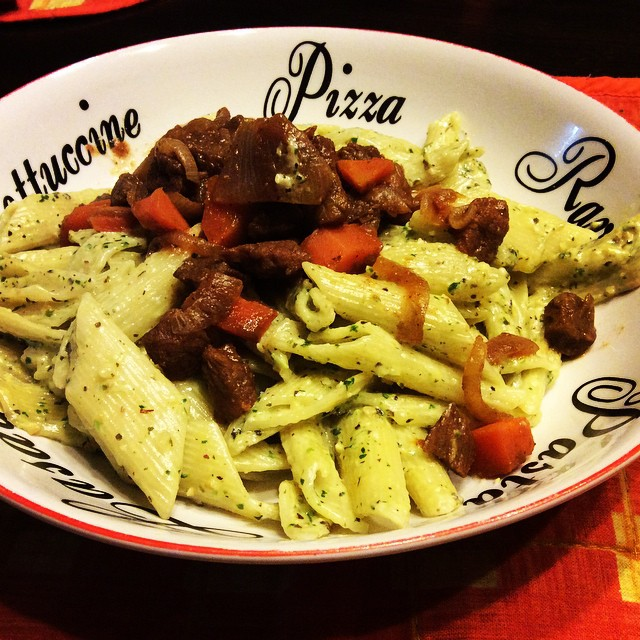 Wendy Penne Pesto:Beef n Carrot StirFry